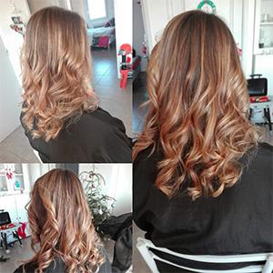 couleur cheveux longs bouclés mèches