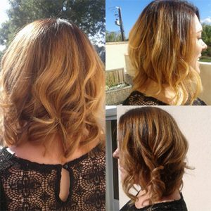 coupe wavy blond doré