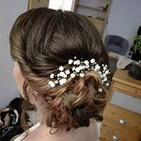 chignon mariage coiffure a domicile